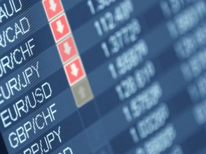 Currency trading, closeup and shallow DOF, for forex, stock market and other finance themes