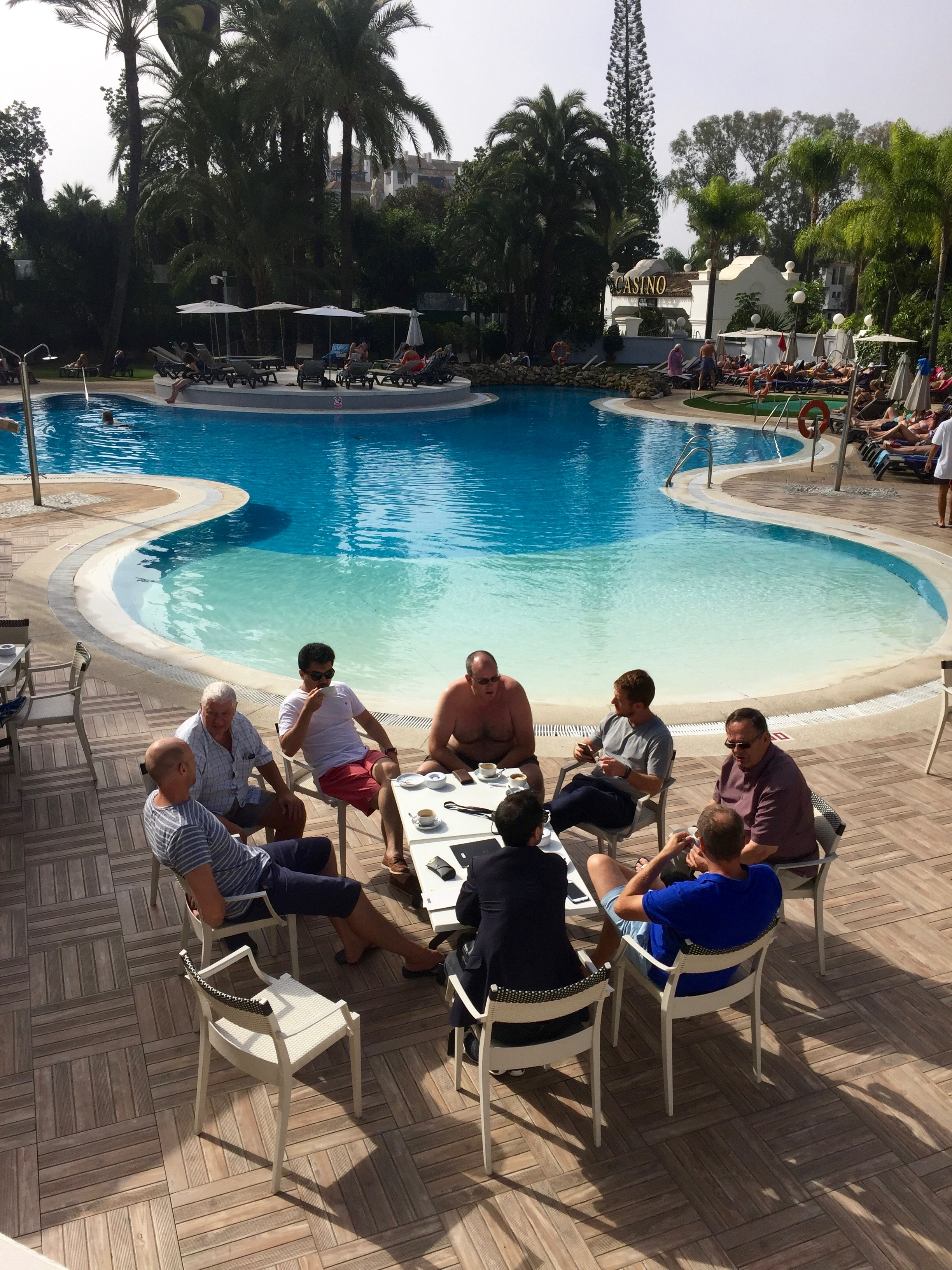 Trading College students in Marbella