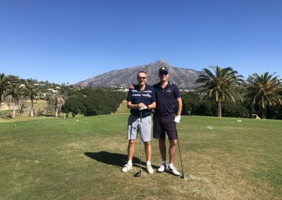 Golf after a mornings trading session